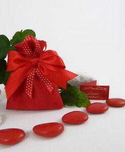 sacchetto confezionato cotone rosso