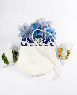 sacchetto mattonella con cordoncino con magneti teste di moro linea i mori ad emozioni
