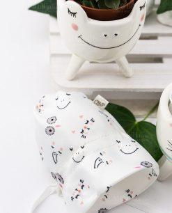 sacchetto portaconfetti bianco con faccette animali linea nature ad emozioni