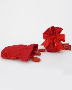 sacchetto puffettino rosso con tirante