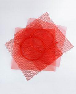sacchetto rete rosso rete e tulle