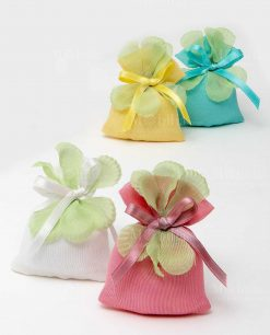 sacchetto rettangolare piccolo mussola con petalo 4 colori ad emozioni 1