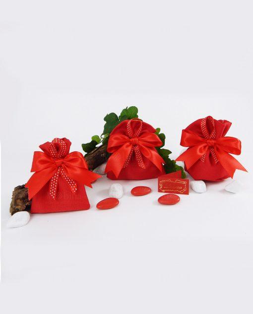 sacchetto rosso con nastrino
