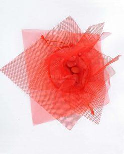 sacchetto rosso rete e tulle