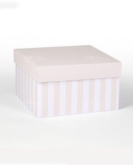 scatola con coperchio sabbia e righe