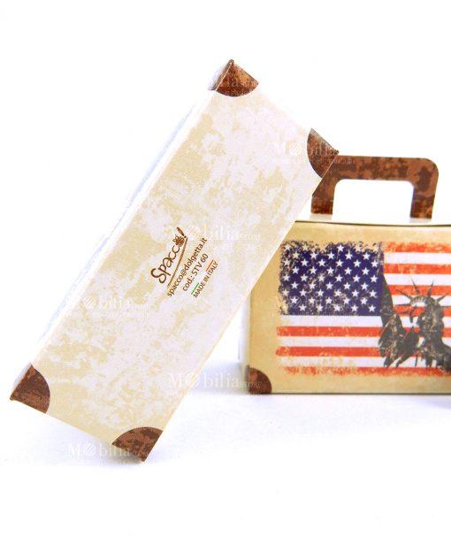 scatolina a valigia cartoncino marrone