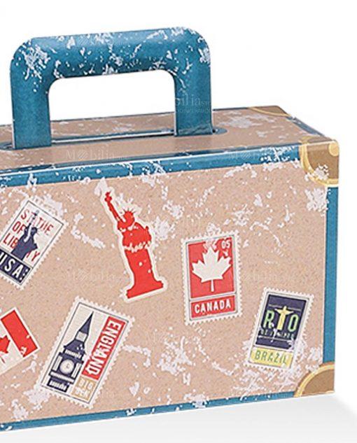 scatolina portaconfetti a valigia con monumenti città 1