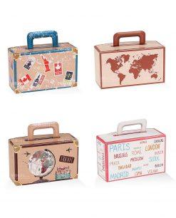 scatolina valigia portaconfetti cartoncino