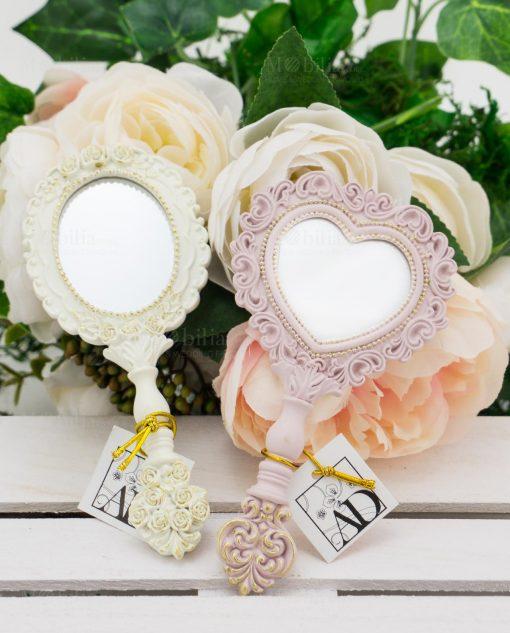 specchietto bianco e specchietto rosa linea princess ad emozioni