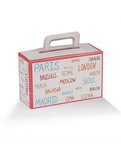 valigia cartoncino con scritte città 1