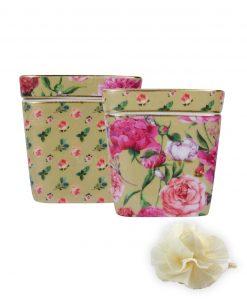 vasetto profumatore giardino beige baci milano mini bouquet