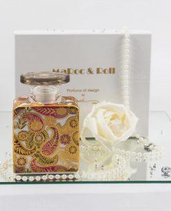 bottiglia profumatore kate 225 ml con scatola e fiore carta di gelso baci milano maroc e roll