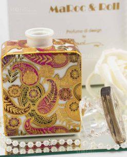 bottiglia profumatore porcellana kate con fiore baci milano maroc e roll