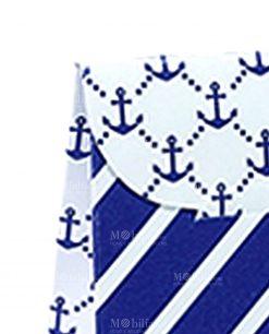 bustina portaconfetti con ancore blu
