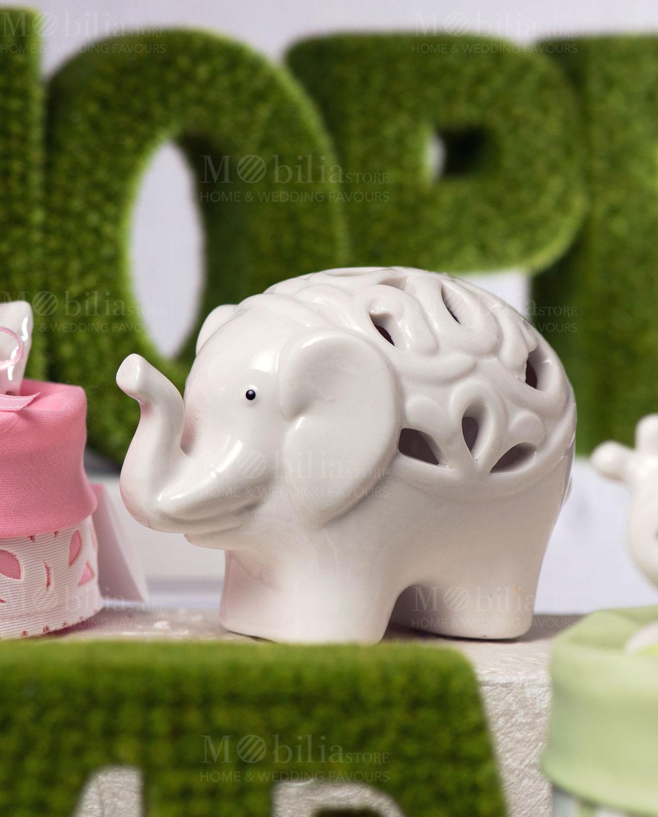 elefante grande porcellana traforata foto ambientata linea cuccioli ad emozioni