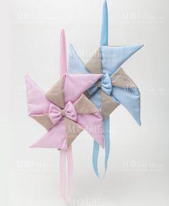 fiocco nascita girandola rosa e girandola azzurra linea baby balloon ad emozioni