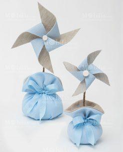 girandola media e piccola azzurra con sacchetto linea baby balloon ad emozioni