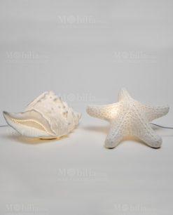 lampada stella marina porcellana lampada conchiglia porcellana linea luce ad emozioni