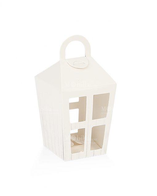 lanterna portaconfetti piccola cartoncino bianco