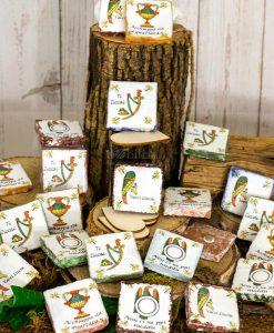 magnete carta da gioco asso vari decori ceramica artigianale caltagirone sicilia