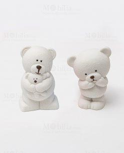 orsetto ceramica bianco due posizioni assortite collezione coccole polari ad emozioni