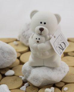 orsetto piccolo con abbraccio linea coccole polari con etichetta originale ad emozioni