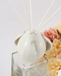profumatore boccetta vetro pigna ceramica con bastoncini liberty ad emozioni