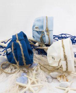 sacchetti vari colori con spago linea oceano ad emozioni