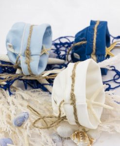 sacchetto bianco blu e azzurro linea oceano ad emozioni