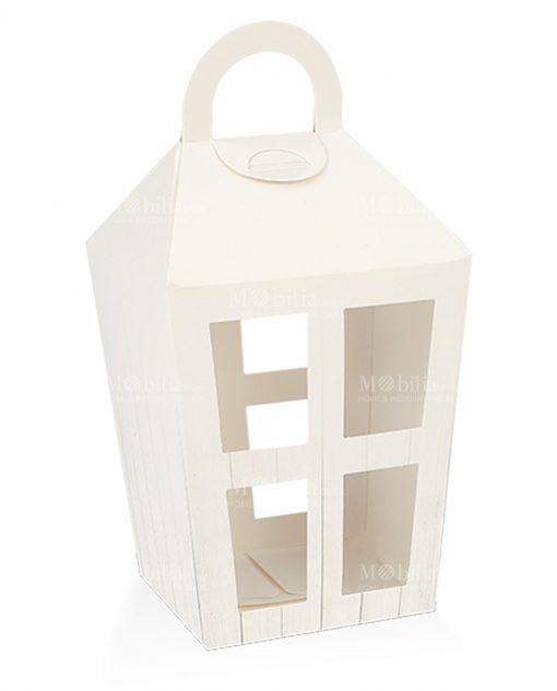 scatola a forma di lanterna grande bianca