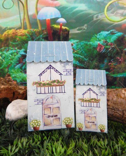 scatolina casetta con tetto celeste