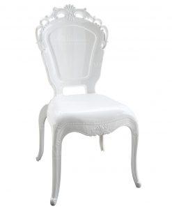 sedia policarbonato bianco decoro barocco baci milano