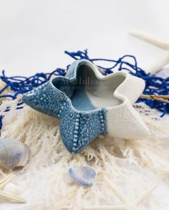 stella marina bicolore bianca e blu linea oceano ad emozioni