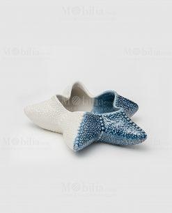 stella marina media porcellana azzurra e bianca linea oceano ad emozioni