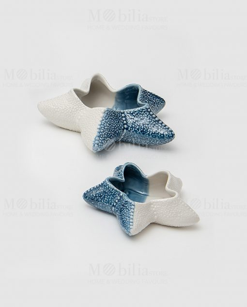 stella marina porcellana azzurra e bianca linea oceano ad emozioni