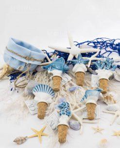 tappi modelli assortiti ceramica linea oceano ad emozioni con sacchetto azzurro