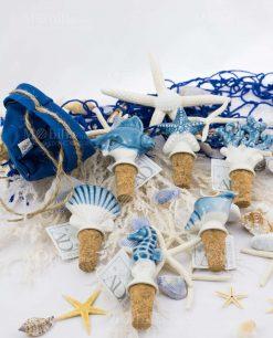 tappi modelli assortiti ceramica linea oceano ad emozioni con sacchetto blu