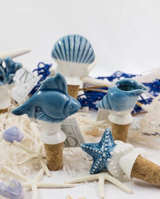 tappo ceramica pesce linea oceano ad emozioni
