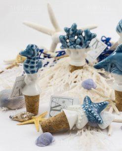 tappo stella marina e cavalluccio ceramica linea oceano ad emozioni