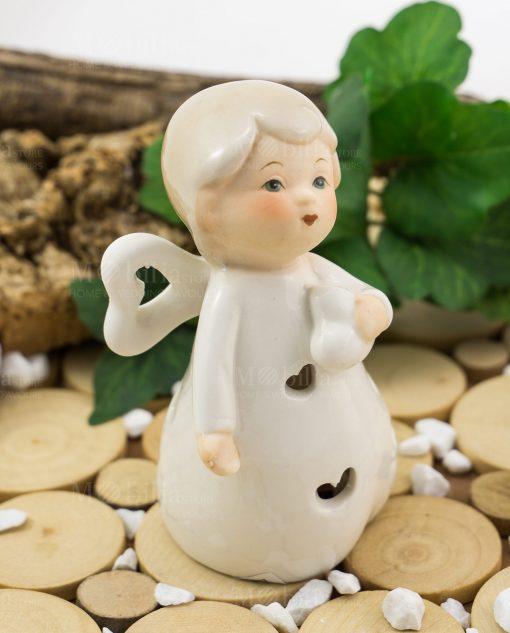 angioletto porcellana con cuoricino linea happiness ad emozioni