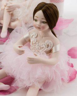 ballerina mora con tutù rosa e pizzo rebrodè linea prima ballerina rdm design