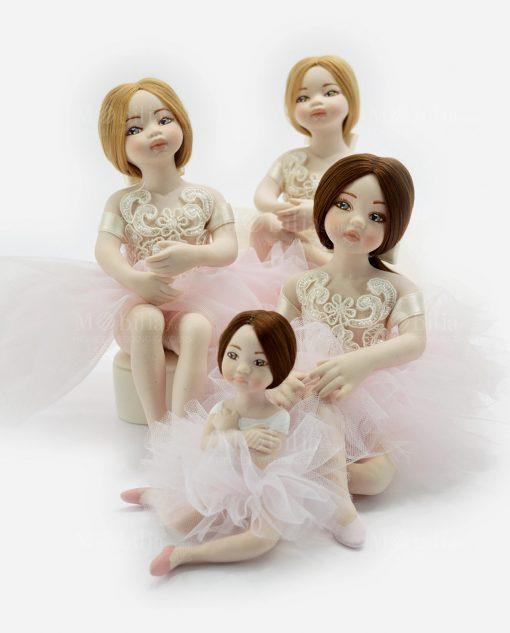 ballerine con tutù e pizzo rebrodè linea prima ballerina rdm design