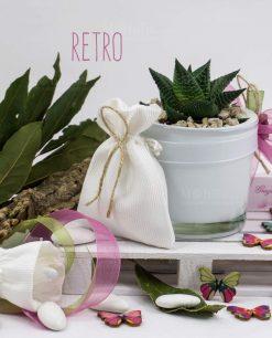 bomboniera pianta grassa succulenta con vaso sfera vetro paola rolando con sacchettino e nastri