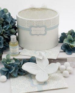 bomboniera profumatore farfalla porcellana bianca linea sweetm memory rdm design