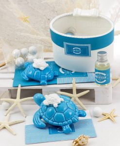 bomboniera profumatore tartaruga porcella blu con fragranza rdm design linea oceania