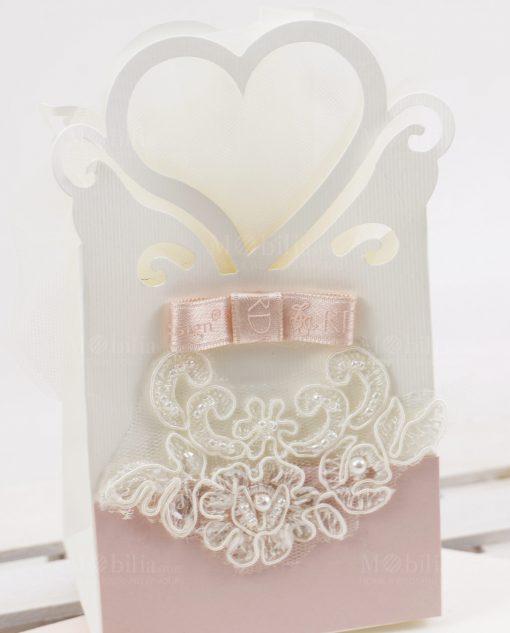 borsetta cuore con pizzo rebrode rdm design linea forever