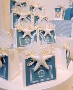 bustina portaconfetti cartoncino con stella marina linea oceania rdm design