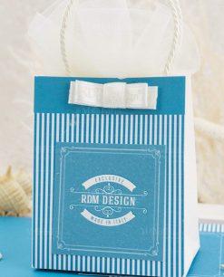 bustina portaconfetti con fiocco bianco linea oceania rdm design
