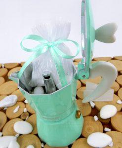 caffettiera 1 tazza love me express tiffany con sacchetto con confetti brandani