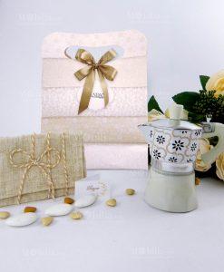 caffettiera collezione alhambra con bag con sacchetto bustina juta brandani